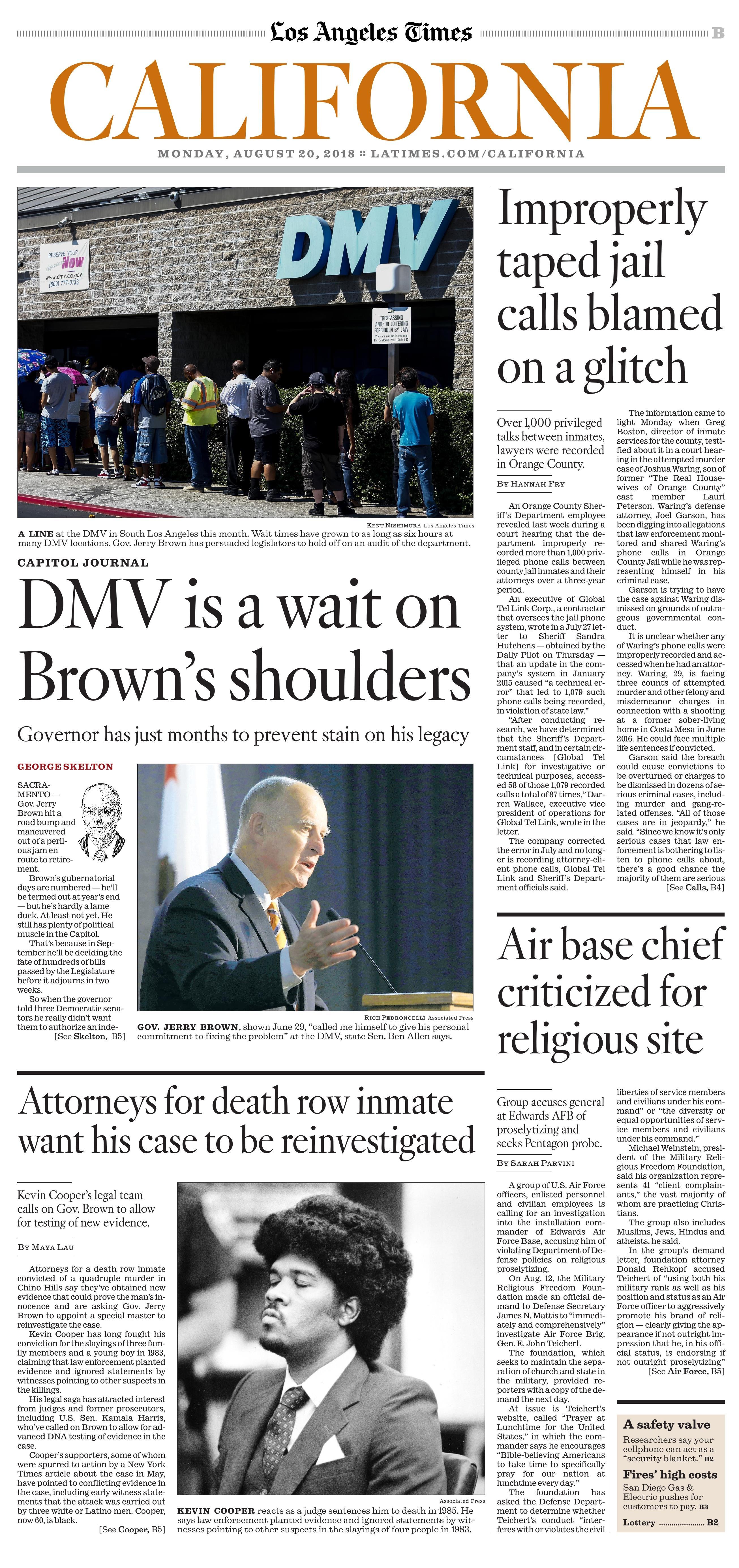 Los Angeles Times Uhrzeit